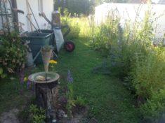 Garten hinten bis jetzt, werde aber noch die Rabatten verbreitern, das nur noch ein kleiner Weg  ...