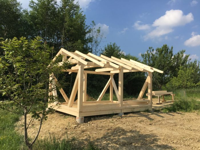 Schlagmann baut auch für Bienen: unser Bienenhaus Mai 2017 im Rohbau – ausser Konkurrenz & ...