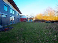 Überblick über das Schulgartengelände – noch ohne den Bauerngarten