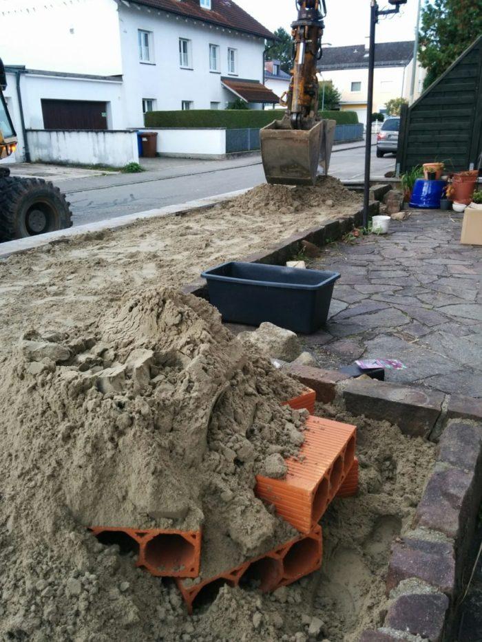 Sand auffüllen